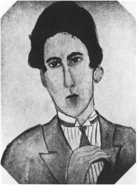 Jean Cocteau peint par Kiki