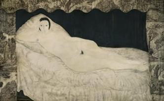 Leonard-Tsuhugaru-Foujita-nu-couche-a-la-toile-de-Jouy-1922